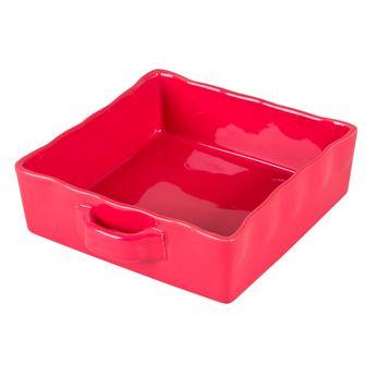 Achat en ligne Plat à four en grès rouge rectangulaire 23 x 23 cm - Table Passion