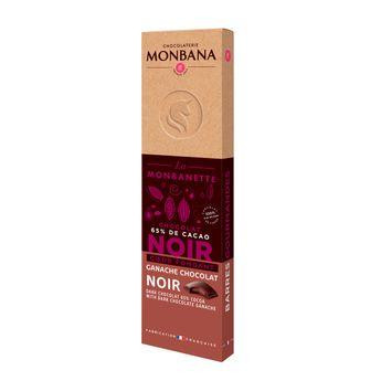 Achat en ligne Barre de chocolat noir coeur ganache fondante 40g - Monbana