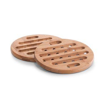 Achat en ligne Set de 2 dessous de plat ronds en bambou 20 cm - Zeller