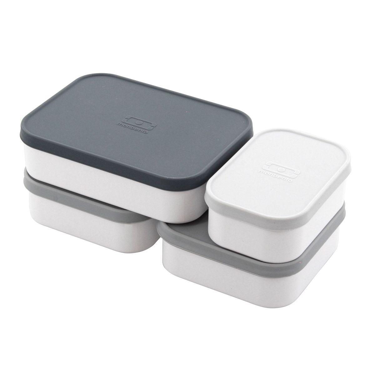 Set de 4 boites de compartimentation pour bento MB Original - S+L+ 2xM - Monbento