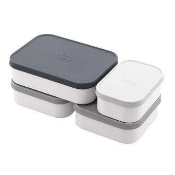 Achat en ligne Set de 4 boites de compartimentation pour bento MB Original - S+L+ 2xM - Monbento