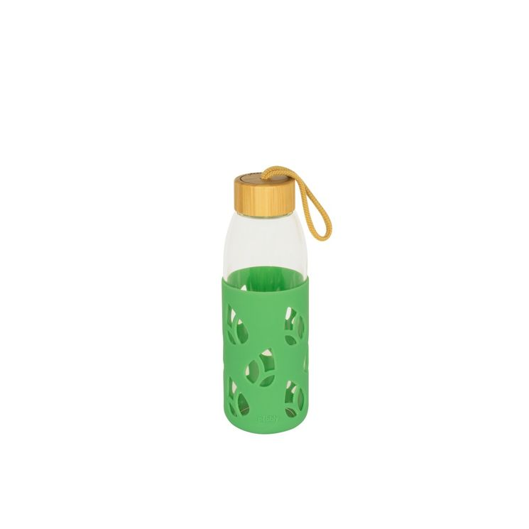 Bouteille en verre et silicone nomade 55 cl - vert sauge - Pebbly