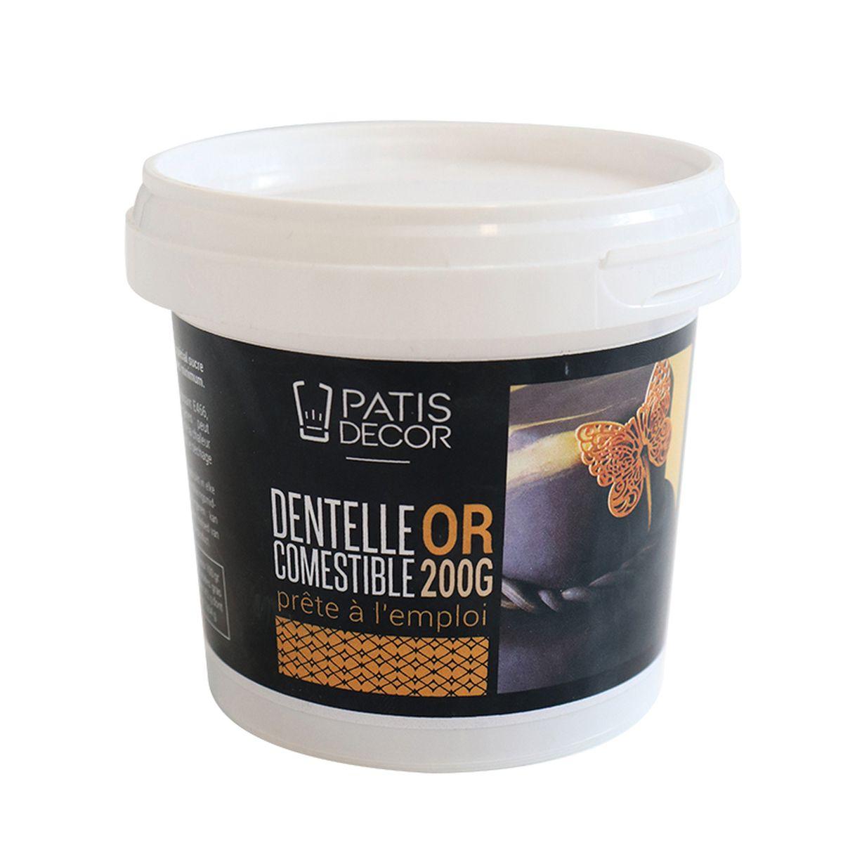 Dentelle comestible dorée prête à l´emploi 200 gr - Patisdecor
