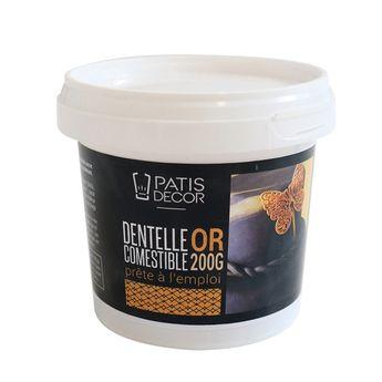 Achat en ligne Dentelle comestible dorée prête à l´emploi 200 gr - Patisdecor