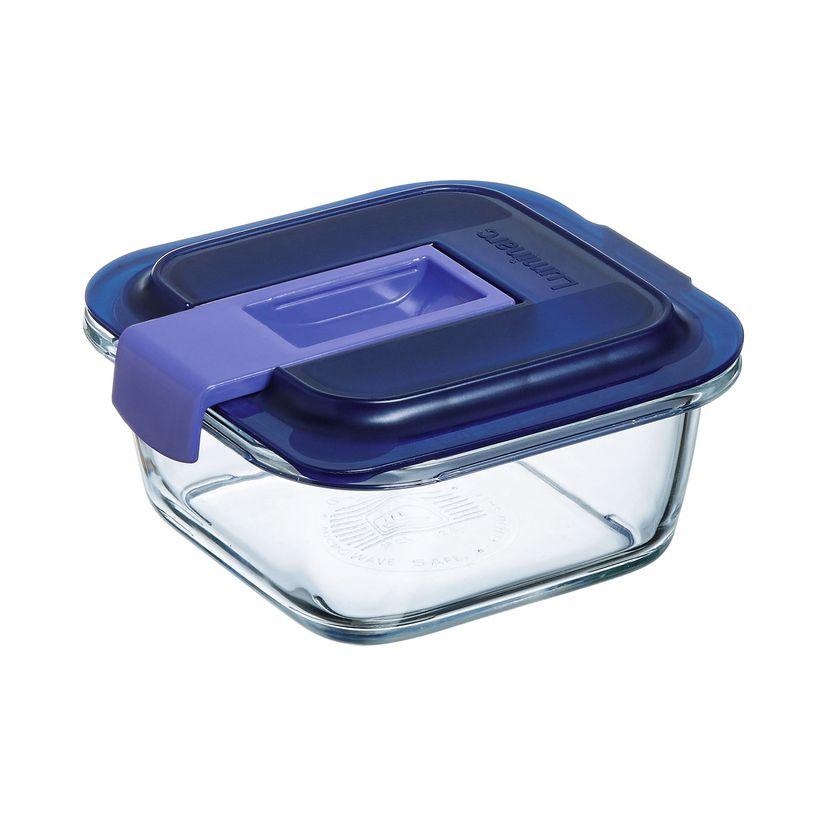 Boite hermetique Easy Box carrée en verre 122cl 17.64x7.15cm - Luminarc