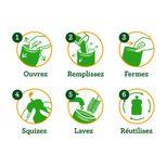 Lot de 4 gourdes réutilisables Amazonie 130 ml + 1 Squiz´zip - Squiz