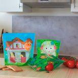 """Lot de 3 sacs à goûter réutilisables - Collection """"Ma Petite Ferme"""" - Squiz"""