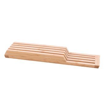 Achat en ligne Bloc couteaux horizontal pour tiroir en bambou 43 x 9.5 x 4 cm - Point Virgule
