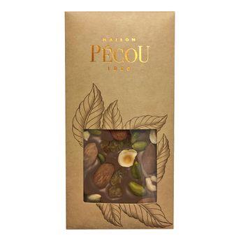 Achat en ligne Tablette chocolat noir aux fruits secs - Pecou