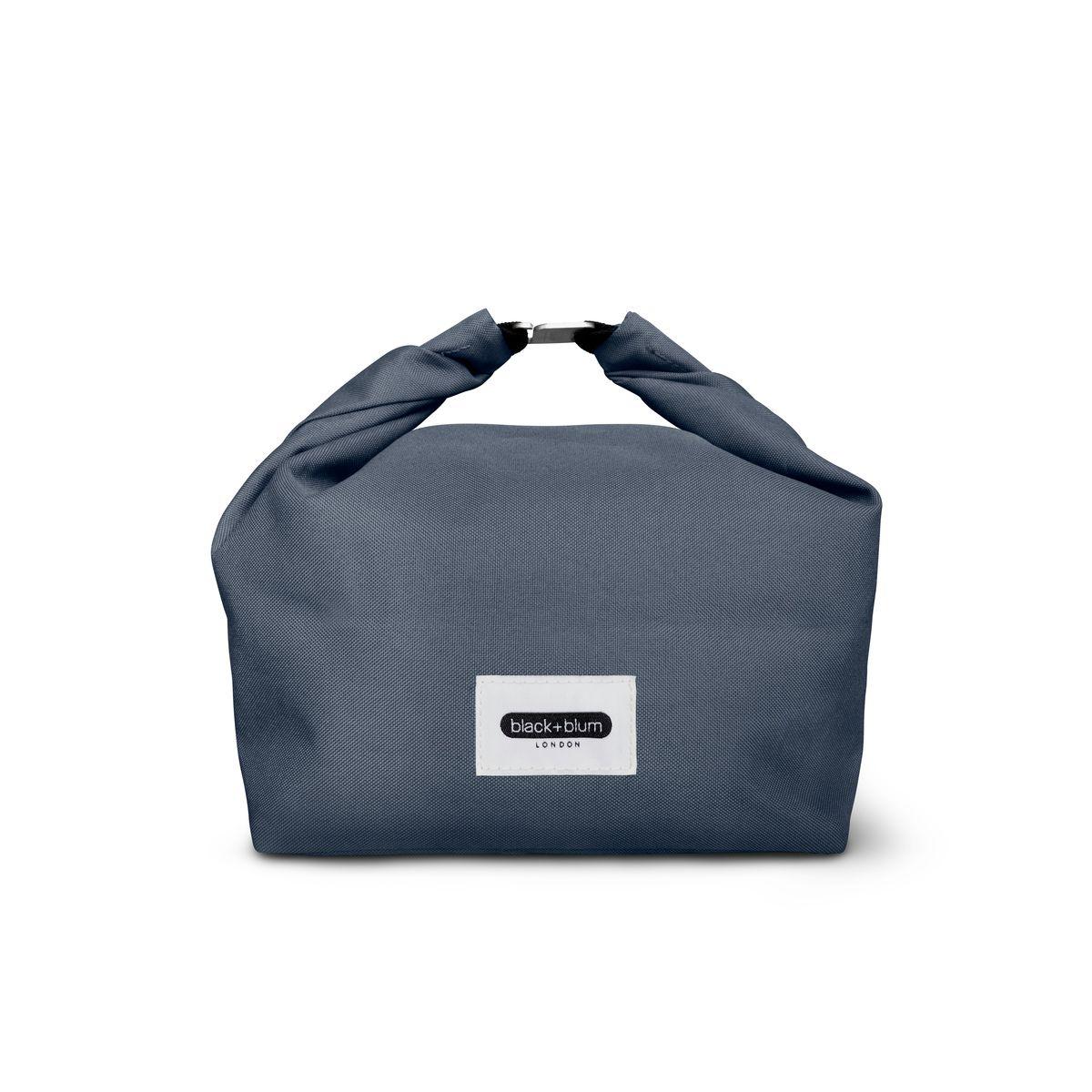 Sac à lunch box bleu en plastique recyclée - Black & Blum