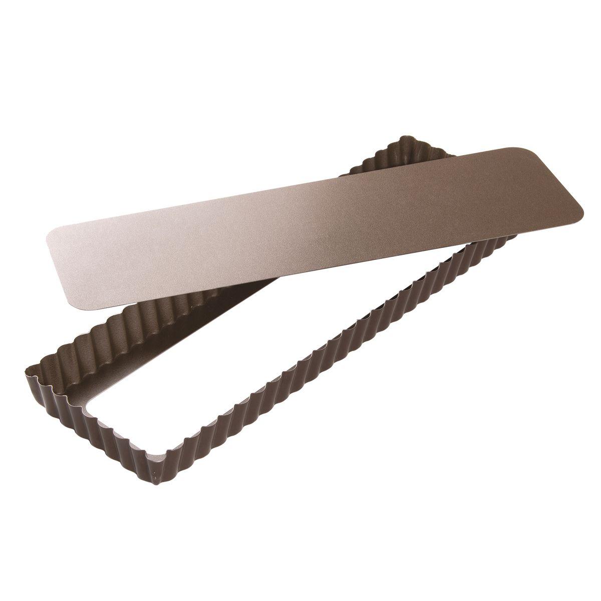 Moule à tarte rectangulaire en métal anti adhérent 5/6 parts 35 cm - Alice Délice