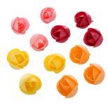 Décor en azyme : 8 grandes roses 4 cm
