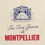 Totebag Montpellier 100% coton - Tissage de L´Ouest