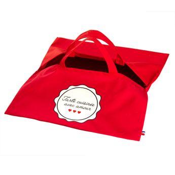Achat en ligne Sac à tarte rouge Tarte Amour - Tissage de l´ouest