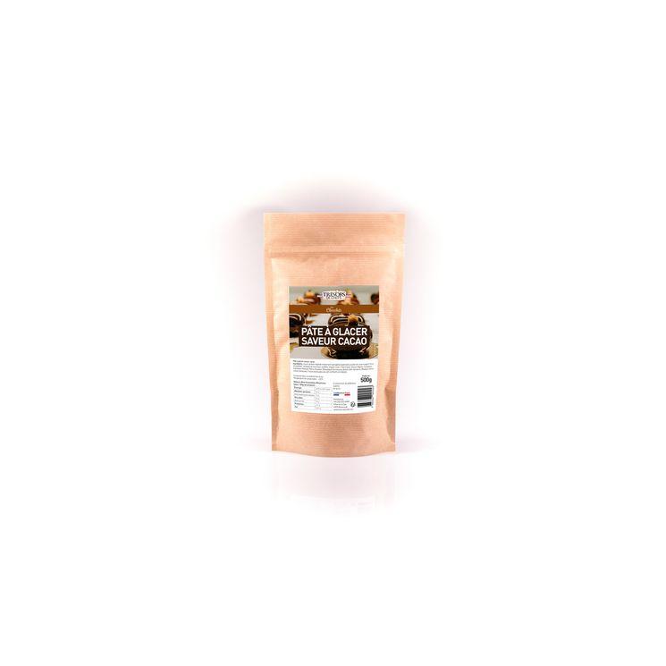 Pâte à glacer cacao noir 500 gr - Trésors de chefs