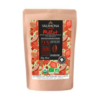 Achat en ligne Chocolat noir à pâtisser bio Millot 74% 250g - Valrhona
