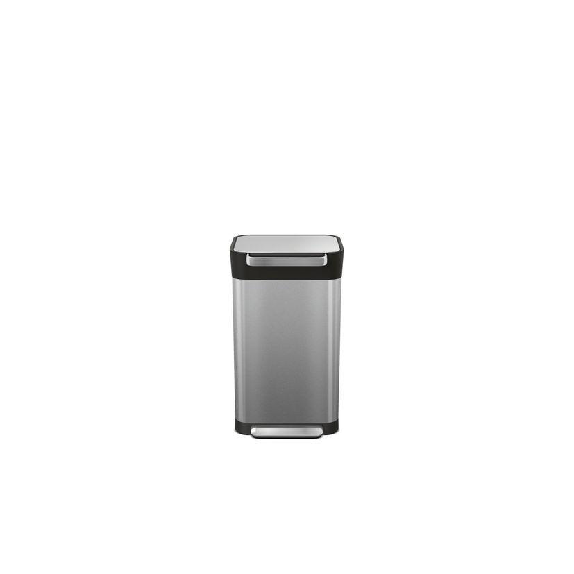 Poubelle compacteur à déchets Titan 30L inox - Joseph Joseph