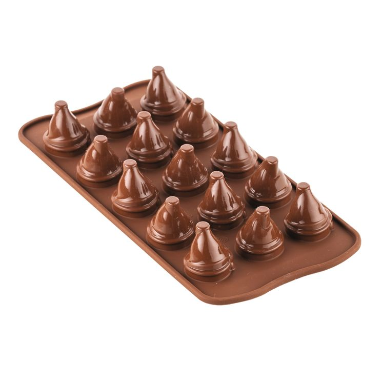 Moule à chocolat en silicone petits gnomes Mr & Mrs Brown - Silikomart