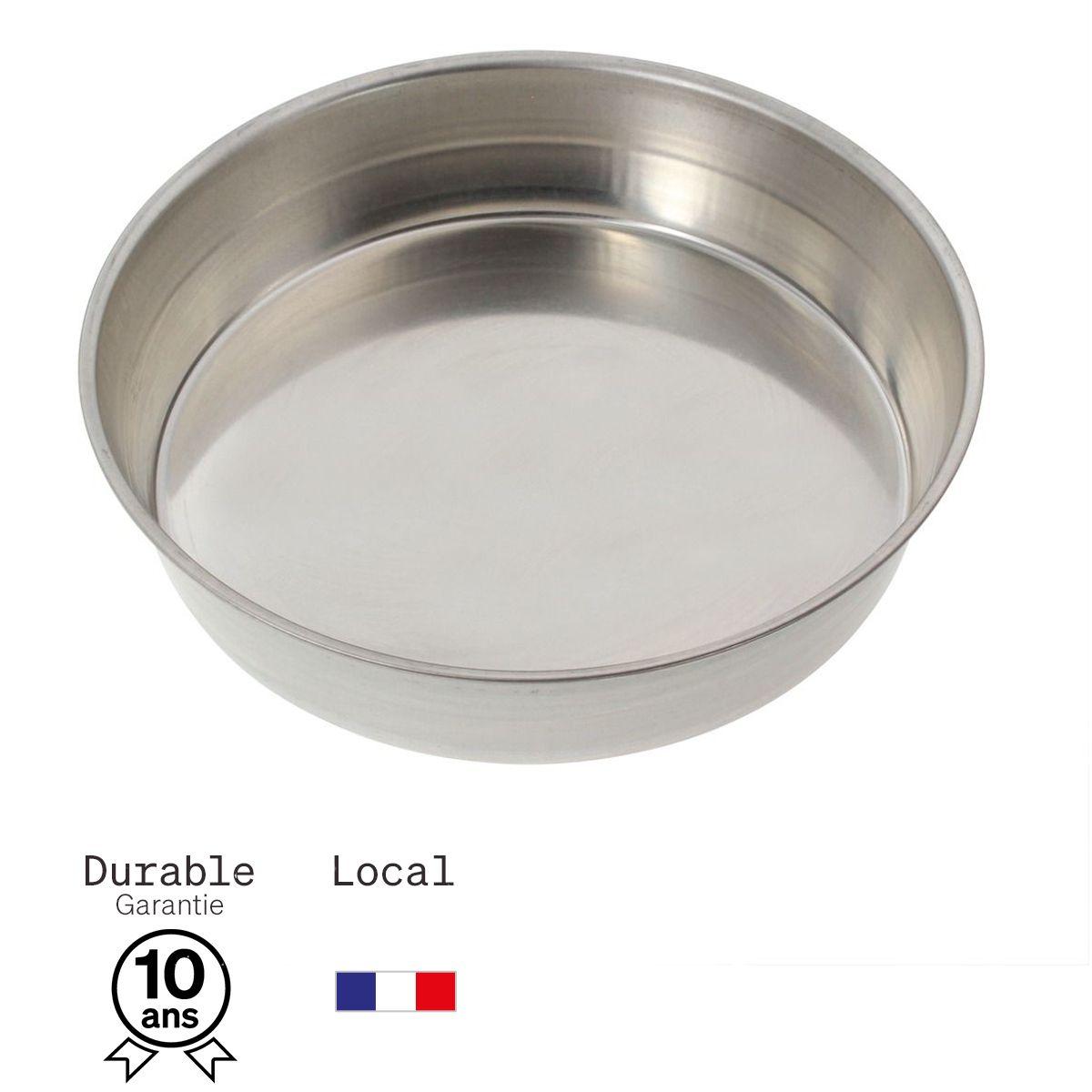 Moule à manqué rond en fer blanc 6/8 parts 22 cm - Alice Délice