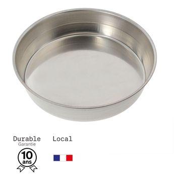 Achat en ligne Moule à manqué rond en fer blanc 6/8 parts 22 cm - Alice Délice