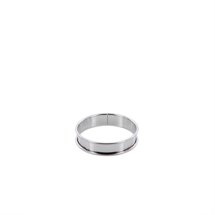 Cercle à tartelette en inox 8 cm hauteur 2 cm - Alice Délice
