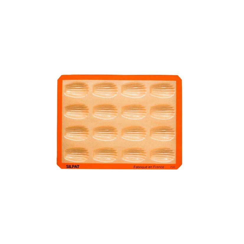 Moule 16 madeleines en silicone et fibre de verre 40 x 30 cm - Silpat