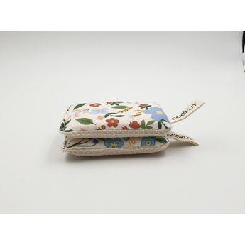 Achat en ligne Eponges écologiques x2 coton et pulpe de bois lavables fleurs rouges et bleues - Cookut