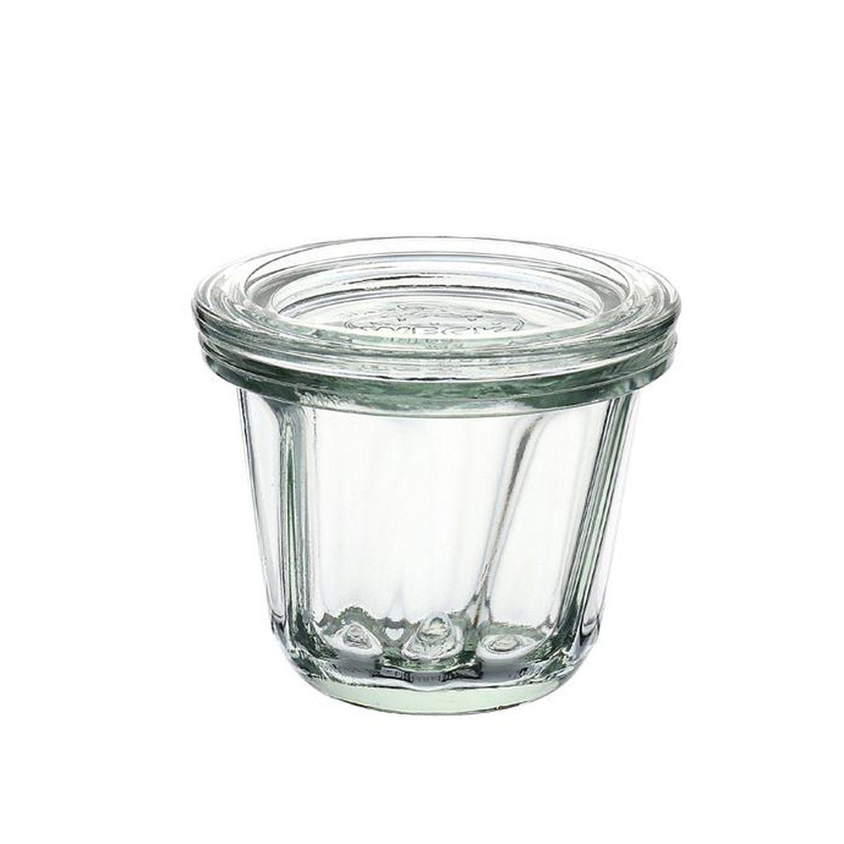 Pot miniature forme Ring Cake avec clip et joint 80ml - Weck