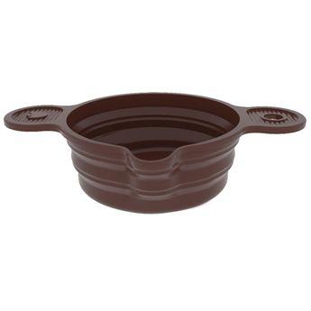 Achat en ligne Bol en silicone retractable pour chocolat, utilisable au bain marie 16 cm 1l - Pavonidea