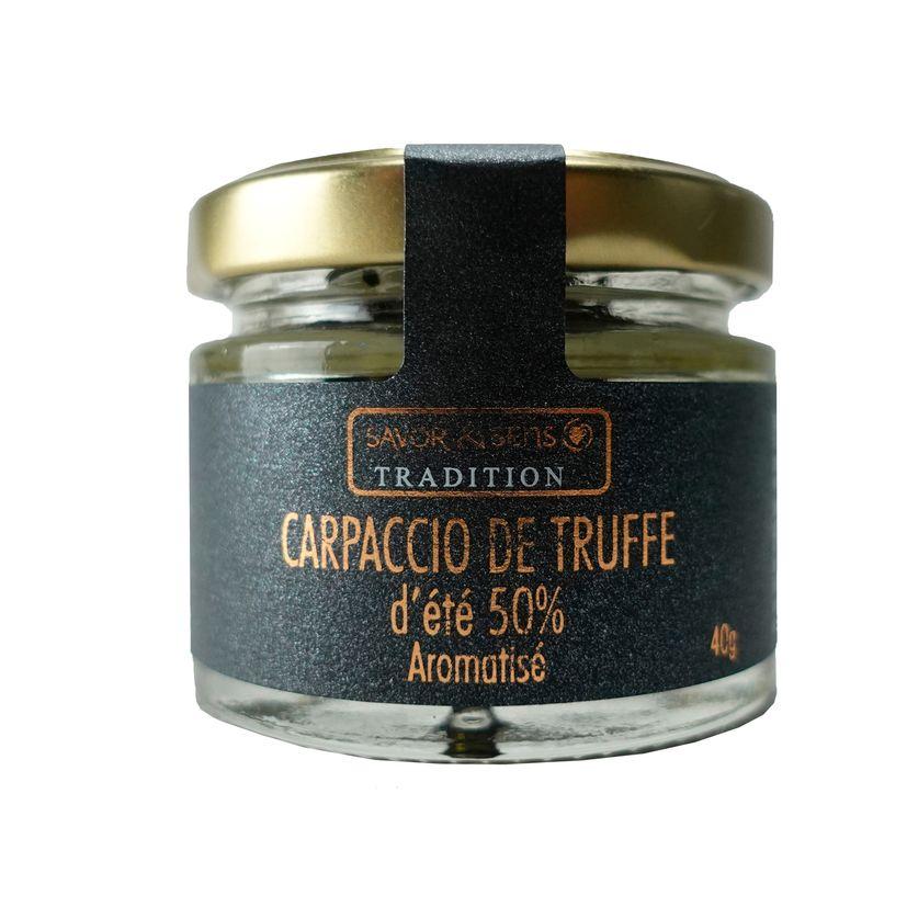 Carpaccio de truffe d'été - Savor et Sens