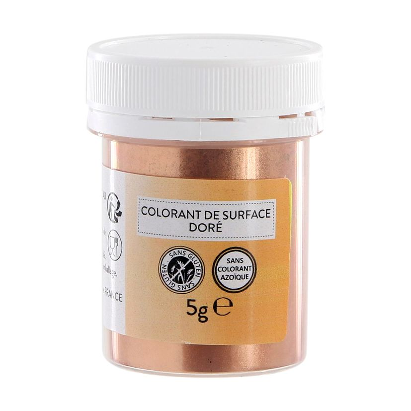 Colorant alimentaire de surface or en poudre 5g