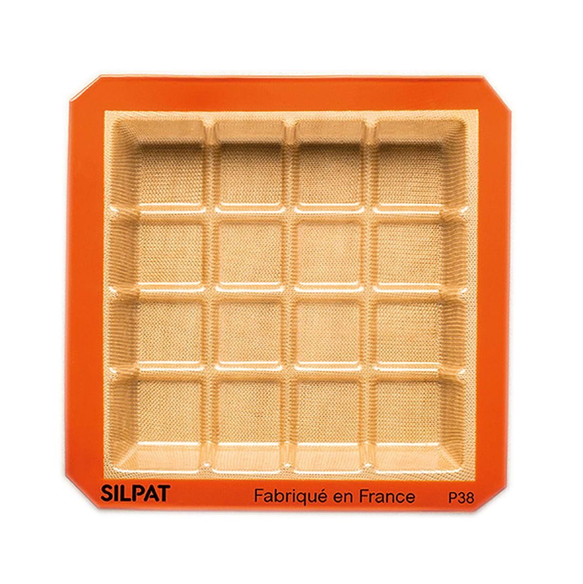 Moule tablette en silicone et fibre de verre 21 x 21 cm - Silpat