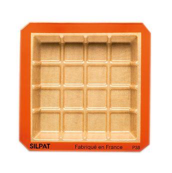 Achat en ligne Moule tablette en silicone et fibre de verre 21 x 21 cm - Silpat