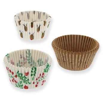 Achat en ligne 45 caissettes de cuisson pour muffins et cupcakes de Noël 3,5 x 7,5 cm