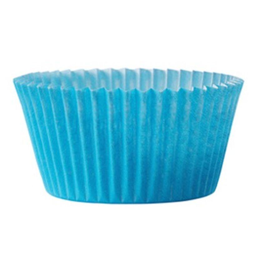 45 moules à cupcakes turquoise 7.5x3.5 cm Chevalier Diffusion