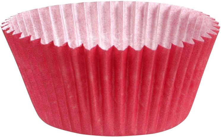 45 MOULES CUPCAKES ROUGE 7.5X3.5 CM - CHEVALIER DIFFUSION