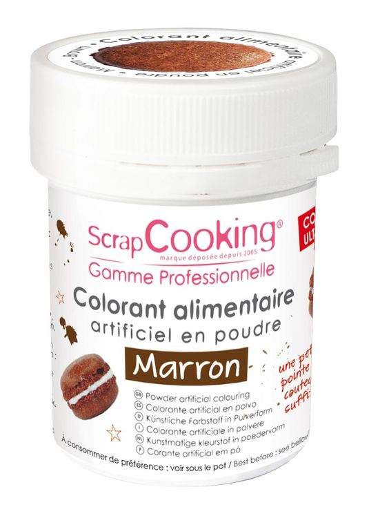 COLORANT ARTIFICIEL POUDRE MARRON - SCRAPCOOKING