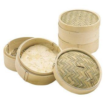 Achat en ligne Cuit vapeur en bambou naturel tissé diamètre 20 cm - World of flavours