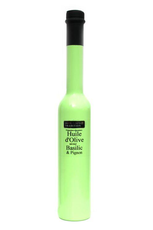 HUILE OLIVE BASILIC PIGNON - SAVOR ET SENS - 20CL