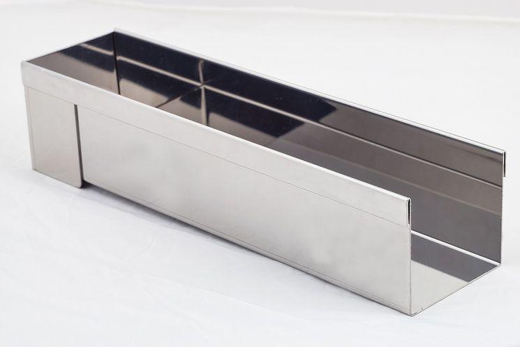 Gouttière rectangulaire en inox 8 x 30 cm - De Buyer