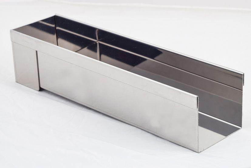 Gouttière inox rectangulaire - De Buyer