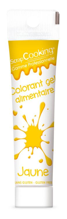 Colorant alimentaire gel jaune 20 gr - Scrapcooking
