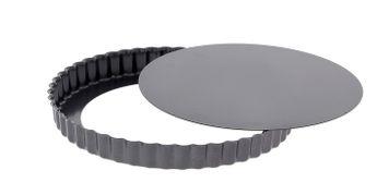 Moule à tarte rond cannelé amovible acier revêtu 20 cm - De Buyer