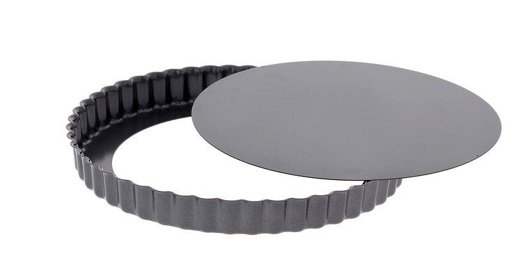 Moule à tarte rond cannelé amovible acier revêtu 32cm - De Buyer