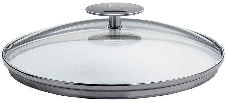Couvercle 28cm verre platine- Cristel